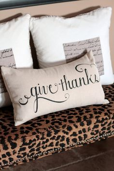 give thanks pillows