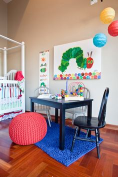 adorable and colorful nursery with a Hungry Caterpillar theme!