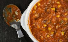 Slow cooker turkey pumpkin chili :: 7 yummy recipes that use up leftover Turkey   #BabyCenterBlog