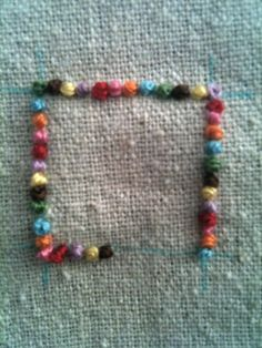 pantry violets: To french knot or not? – French knot border