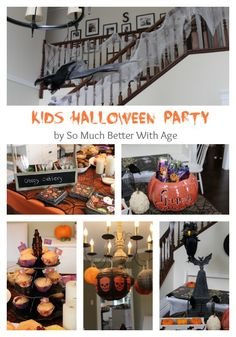 Kids Halloween Party www.somuchbetterwithage.com