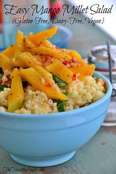 Easy Mango Millet Salad {Gluten-Free, Dairy-Free, Vegan} #glutenfree