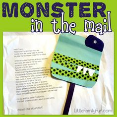 Little Family Fun: Monster in the Mail a Family Halloween Activity. Fun for family that is far away. :)