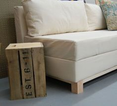 storage spaces, side tables, couch, diy furniture, diy storag