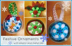 Holiday Ornaments with Lids