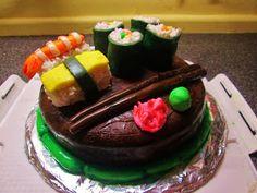 The Messy Kitchen: SUSHI CAKE