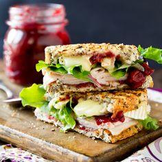 Grilled Brie, Turkey & Cranberry Sammich #panini #sandwich #turkey #foodporn