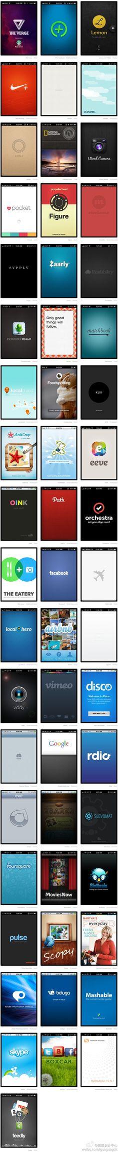 Famous mobile splash screens ux ui design