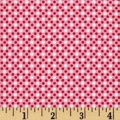 Michael Miller Dim Dots Pink from @fabricdotcom  From Michael Miller, this cotton print fabric is perfect for quilting, apparel and home decor accents.  Colors include bubblegum pink, red and white.