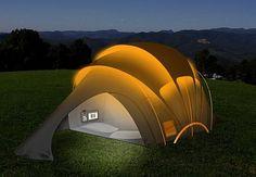 orange solar family tent