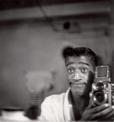 Sammy Davis Jr. with a Rolleiflex