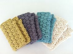 Crochet Wrist Warmers with Lace Edging - PDF PATTERN