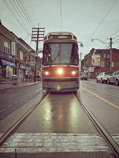 Toronto, Canada. Old Streetcars.