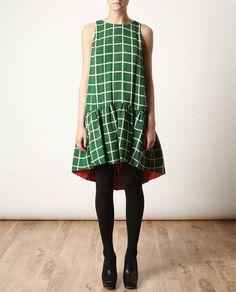KENZO reversible dress x revers dress, geometric prints, pattern, graphic prints, spring colors, dresses, green dress, closet, kenzo revers