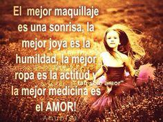 La mejor medicina es el amor.