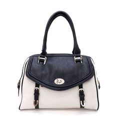 Black & White Satchel Bag