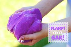 Better than silly putty!  Mandy's Recipe Box: Homemade Flarp! aka Gak!