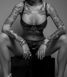 girl, arm tattoos, sexi, art, sleeve tattoos