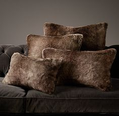 Luxe Faux Fur Pillow Covers - Mink lux faux, fur pillow, faux fur, restoration hardware, pillow covers, pillow collect, throw pillows, christma, bedroom