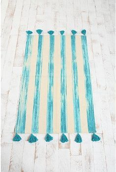 paint rug in laundry or garage room floor urban outfitters, floors, paint rug, total diy, rugs, stripe, cat toys