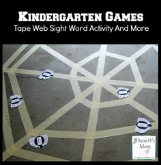 web sight, kindergarten games, sight word activities