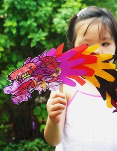 Chinese New Year Handprint Dragon Puppet