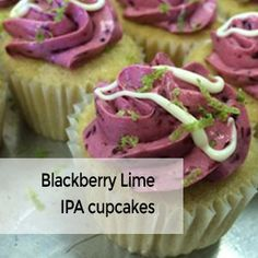 Blackberry Lime IPA Cupcakes