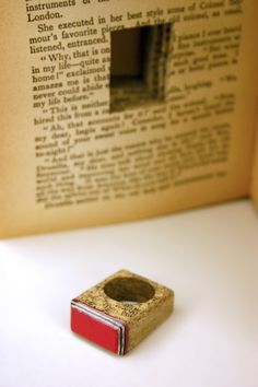 Jeremy May, Littelfy (literary jewels made with laminated paper removed from a book), serial no#: 073 - 'The Bride's Fate'