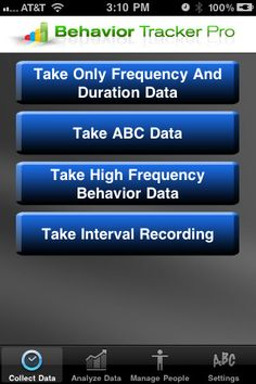 Apps for behavior management and intervention
