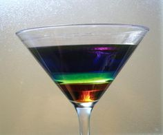 Make a Colorful Liquid Layers Density Column: You can make a colorful many-layered density column using common household liquids.