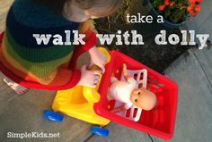 walking with doll