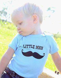 Little Man mustache onsie