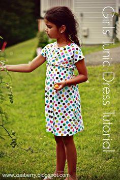 sew, dress tutorials, knit dress, cloth, girl tunic