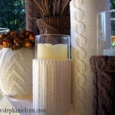 Sweater vases!