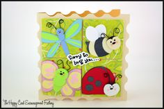 Stampin' Bugs with files from #MyScrapChick