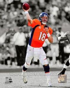 Cool Peyton Manning Broncos Poster 2012