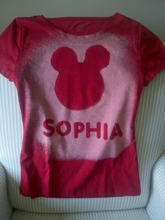 Sophia bleached shirt:)