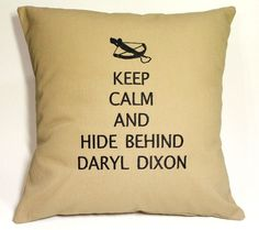 The Walking Dead inspired Daryl Dixon Embroidered Pillow Case Cover. $31.99, via Etsy.    OUR FUTURE GAME ROOM!