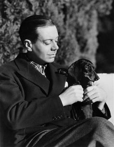 Cole Porter with his dachshund.
