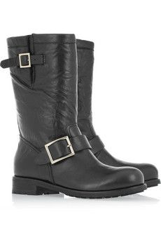 Jimmy Choo  Leather biker boots