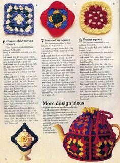 Four-color square  #crochet #square #granny_square