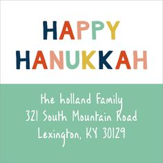 Colorful Hanukkah Sq