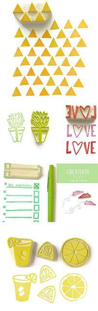 handmade stamps from creatiate...
