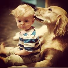 A Boy & His Dog!   This Is Priceless!