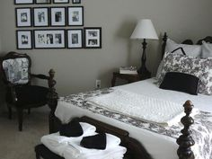 wall colors, guest bedrooms, dream, black white, white bedrooms