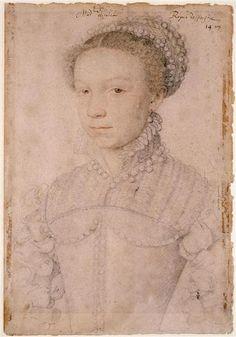 Elisabeth de Valois by Clouet, 1558