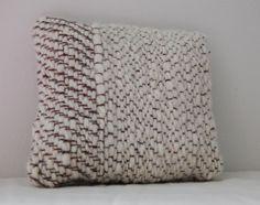 NEWOV, HANDSPUN WOOL & SILK PILLOW: beautiful, down to every thread. #newov #wool #silk #pillow #textile