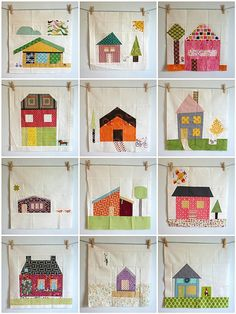Patchwork: house  blocks