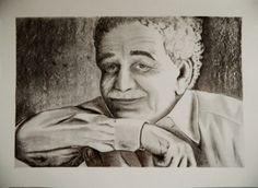 Una idea, mucho arte Gabriel García Márquez Carboncillo en papel caballo, 50 x 70 cm   Autora Grace