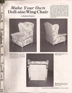 Make your own wing chair